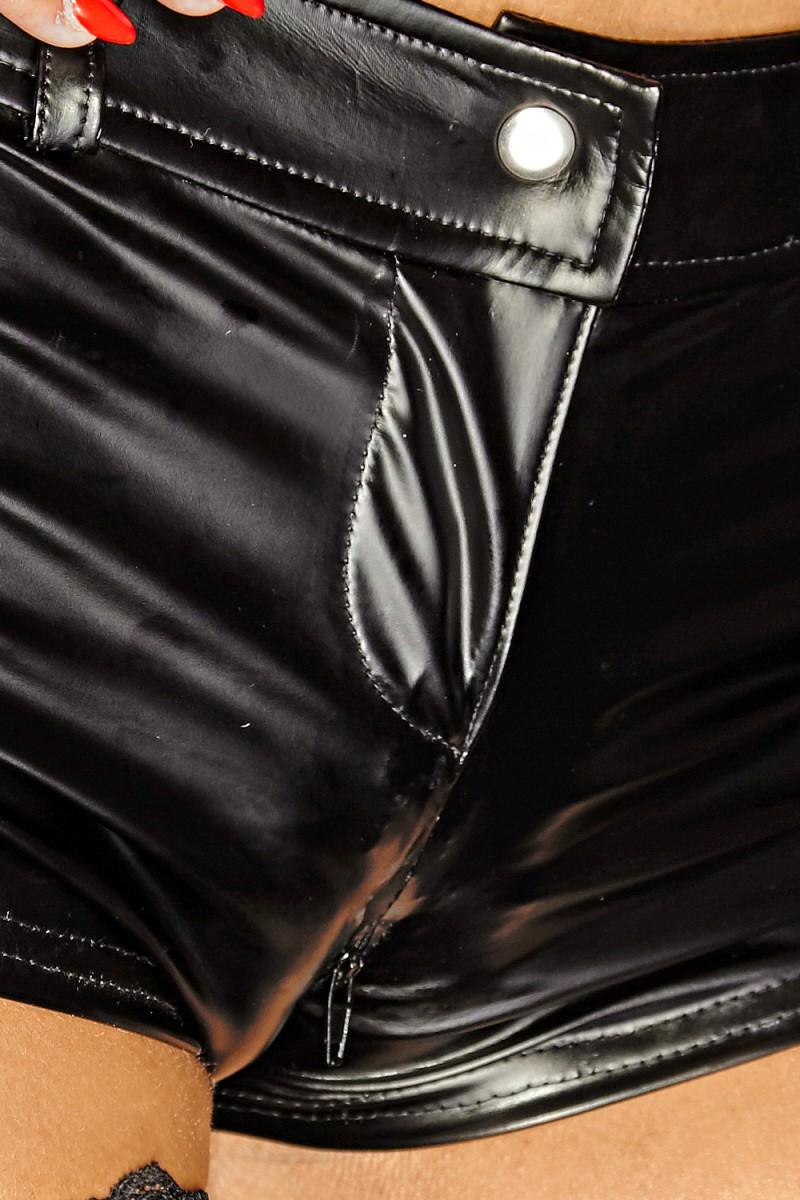 Schwarze Shorts F138 von Noir Handmade