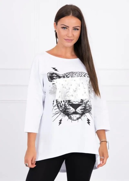 Sweatshirt Oversize Glitzer-Effekt Pullover Metallic Effekt