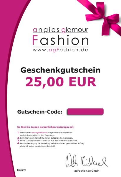 25,- Euro Geschenkgutschein