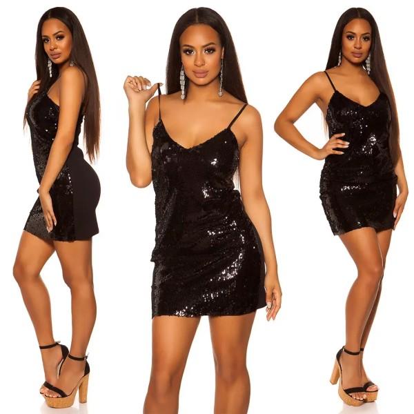 Glamour Party Minidress mit Wende Pailetten