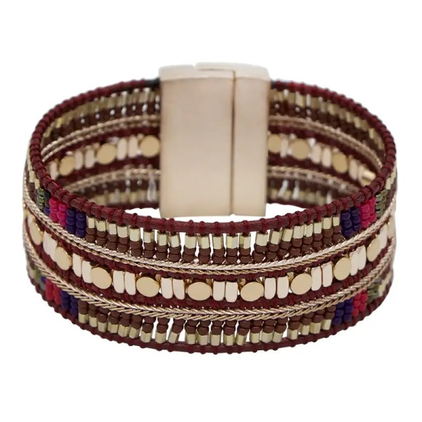 Boho Armreif Deko Perlen Armband