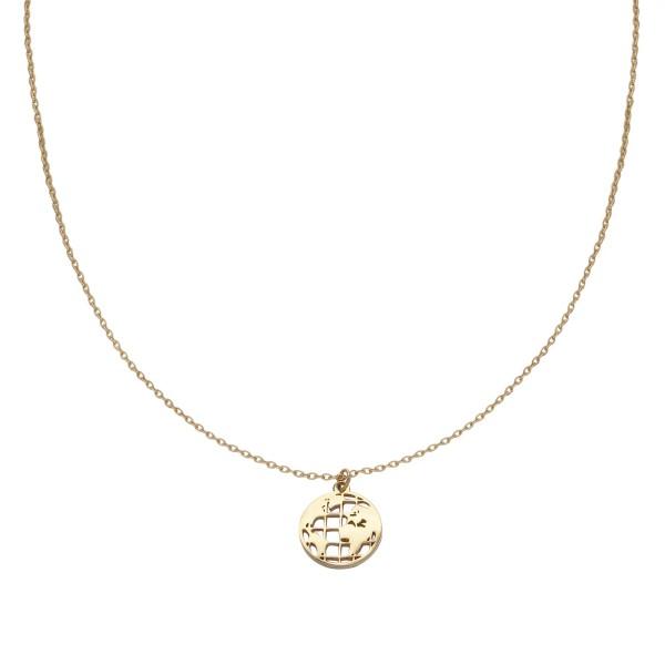 Halskette mit Globe-Anhänger