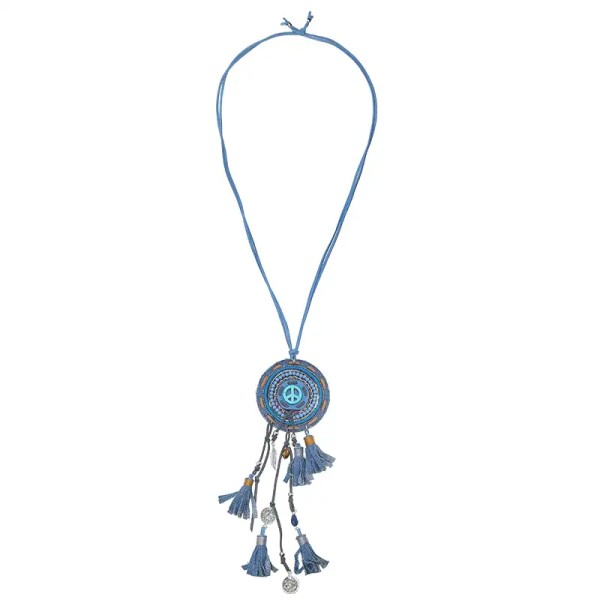 Halskette Boho Deko Quasten Perlen Modeschmuck