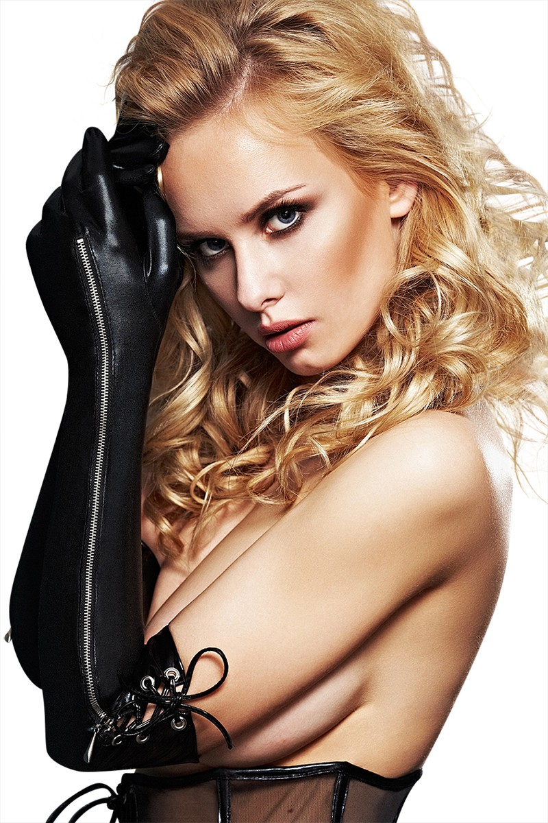 Schwarze Handschuhe A0211