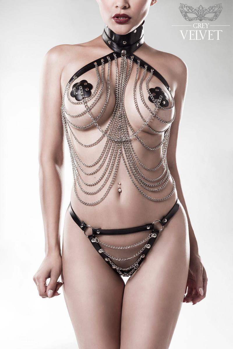 3-teiliges Kettenset Bodykette von Grey Velvet