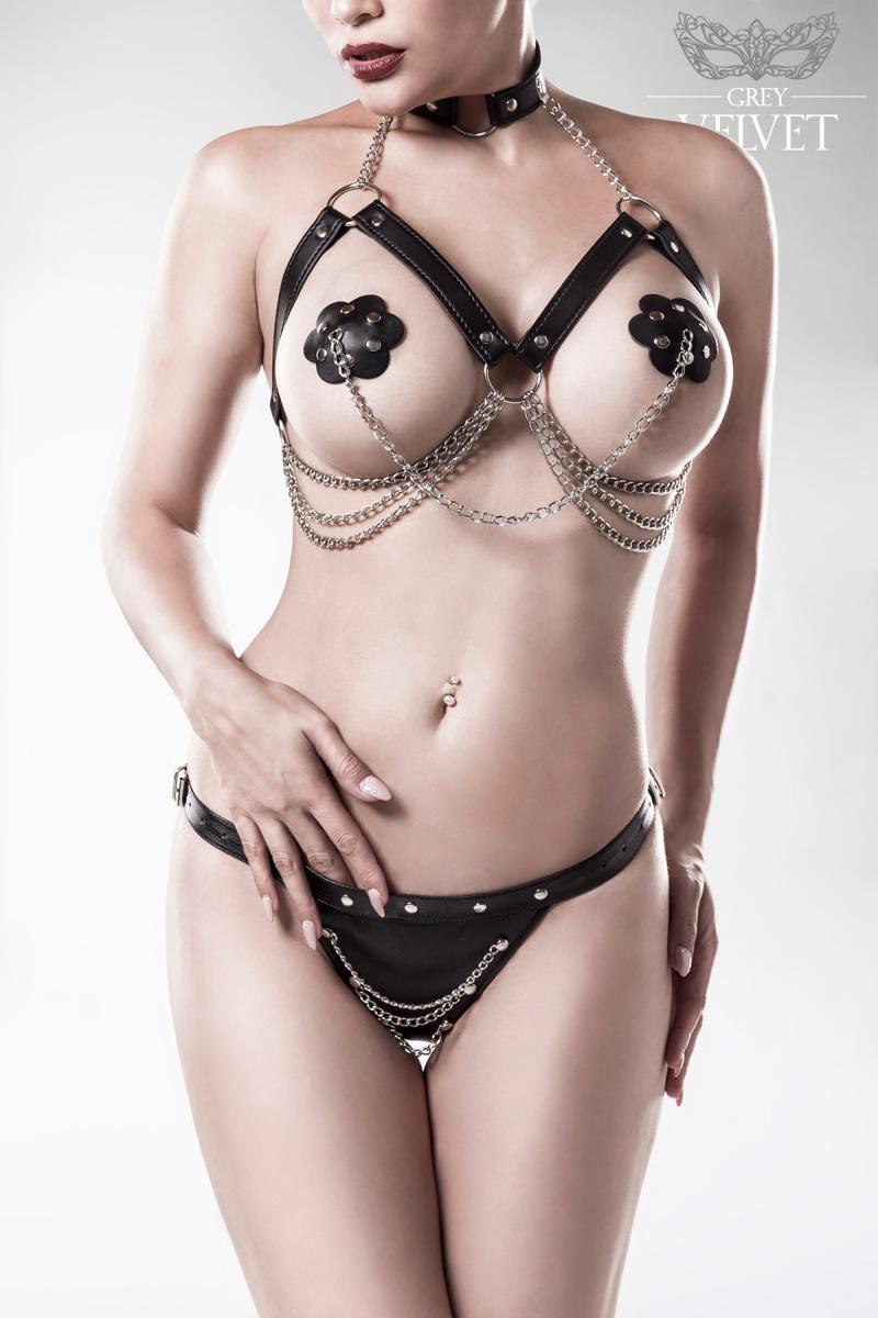 3-teiliges Erotikset Bodyketten von Grey Velvet