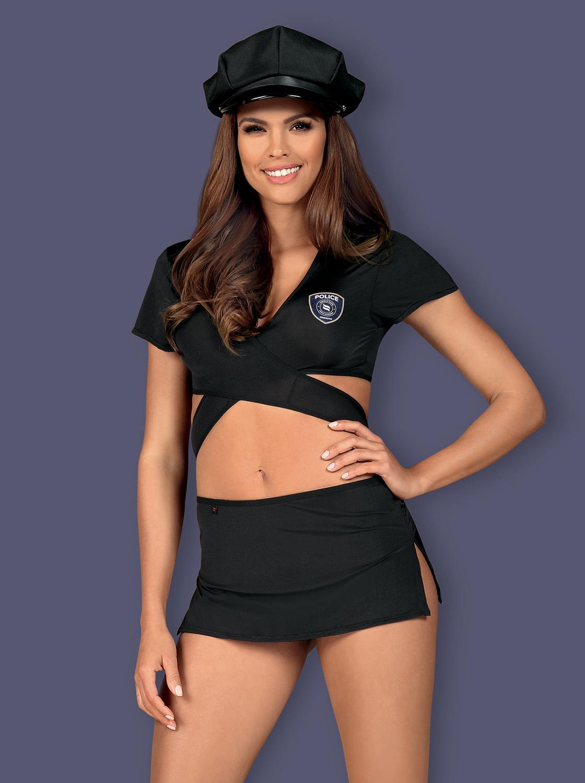 Police Kostüm mit Mütze