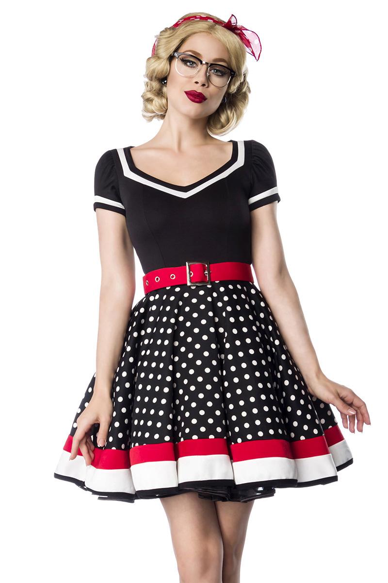 Details zu Vintage Petticoat Kleid mit Punkten